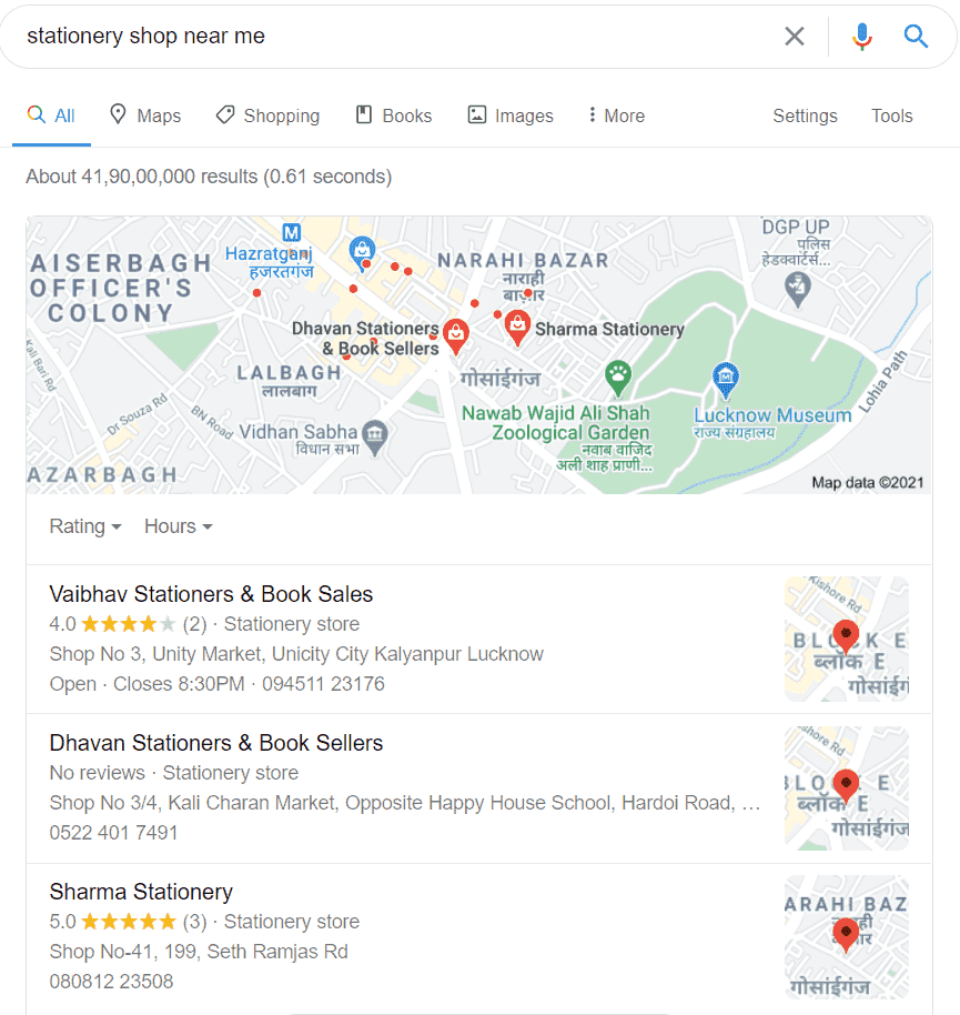 Google business listing example for local SEO - IT Streets